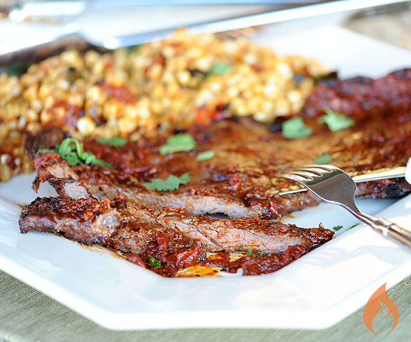 Chipotle Skirt Steak with Roasted Corn Relish