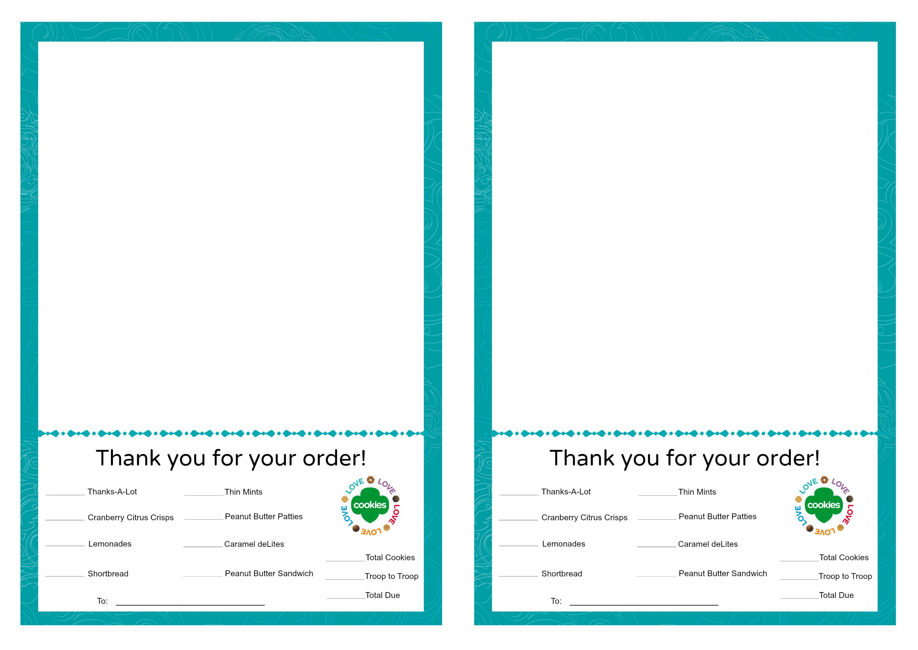 Girl Scout Cookie Goal Worksheet