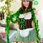 exxxtrasmall lucie cline dressed as a leprechaun
