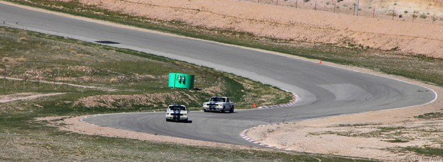 new GT350s on track