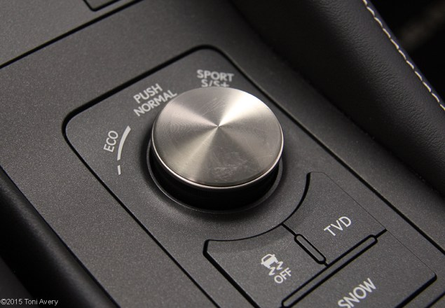 2015 Lexus RC-F Coupe drive modes