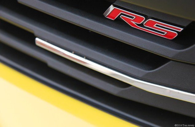 2016 Chevrolet Camaro RS V6 lower grille badge
