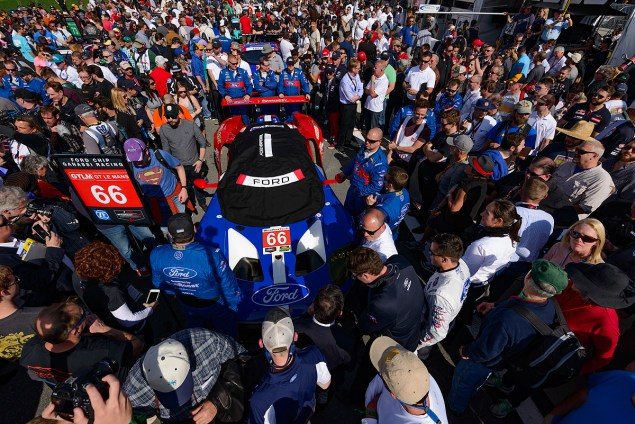 IMSA WeatherTech SportsCar Championship; Rolex 24 at Daytona; Daytona International Speedway; Ford Performance; 28-31 January, Daytona Beach, Florida, United States; 66 Ford Chip Ganassi Racing Ford GT; Joey Hand, Dirk Müller, Sébastien Bourdais; © 2016, Wes Duenkel
