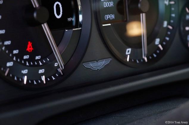 2016 Aston Martin Vantage GT gauge logo