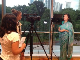 Diane Fender from Girls' Globe interviews Lakshmi Puri, UN Women, together with FHI 360.