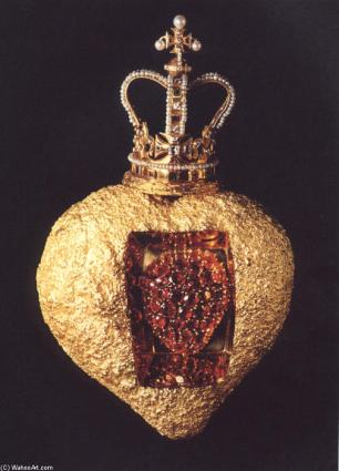 """""""El corazón real"""", joya realizada por Dalí en 1953."""