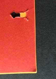 Stapleless stapler holes clipped