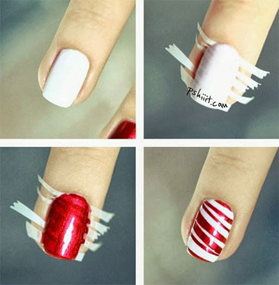 Easy christmas nail art tutorials easy christmas nail art tutorials 2013 2014 x mas nails 8 easy christmas nail art tutorials prinsesfo Image collections
