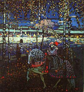 Kandinsky - Couple Riding 1906 (Via Wassily Kandinsky.net)