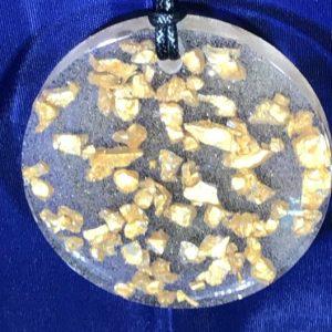 celestial chunks resin pendant