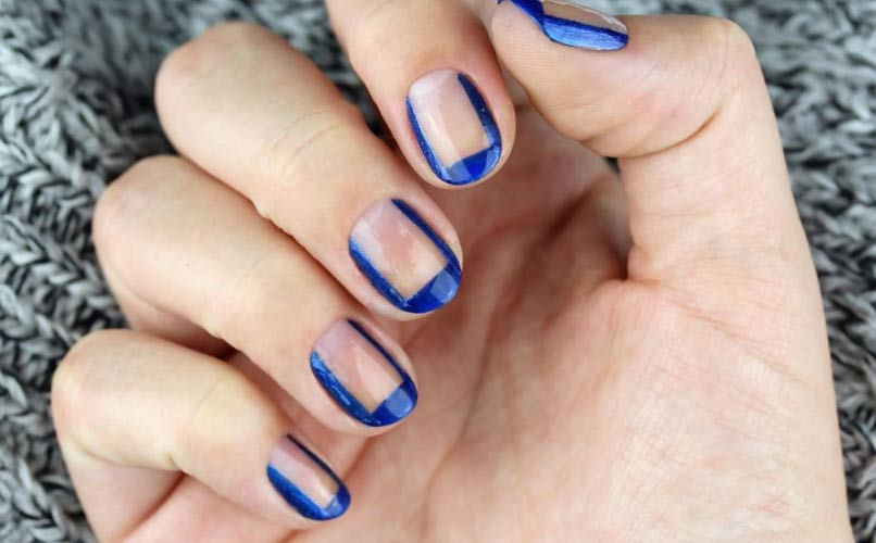 Nail This Reverse French Manicure in Time for Tonight's Holiday Party