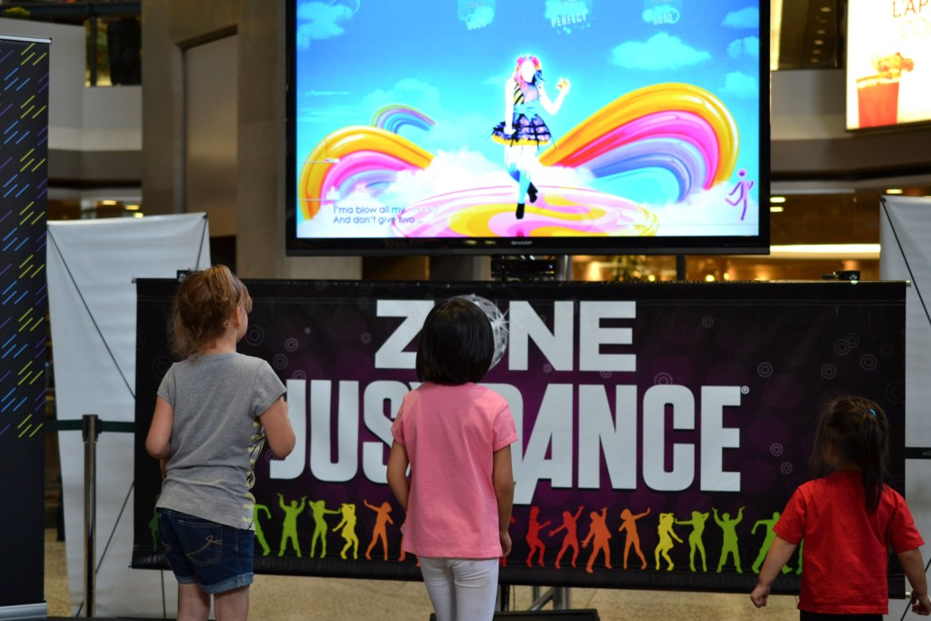 """Dancing to """"Starships"""" at the Just Dance Zone"""