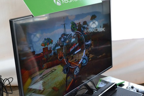 Xbox Lounge @ Osheaga 2014 Artist World where we got to play the E3 demos of Forza Horizons 2 and Sunset Overdrive © Girls on Games