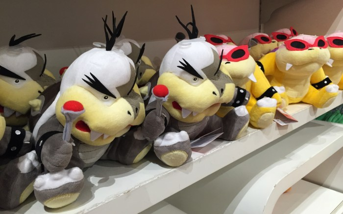 Koopaling plushies at the Nintendo World Store in NYC © Leah Jewer / Girls on Games