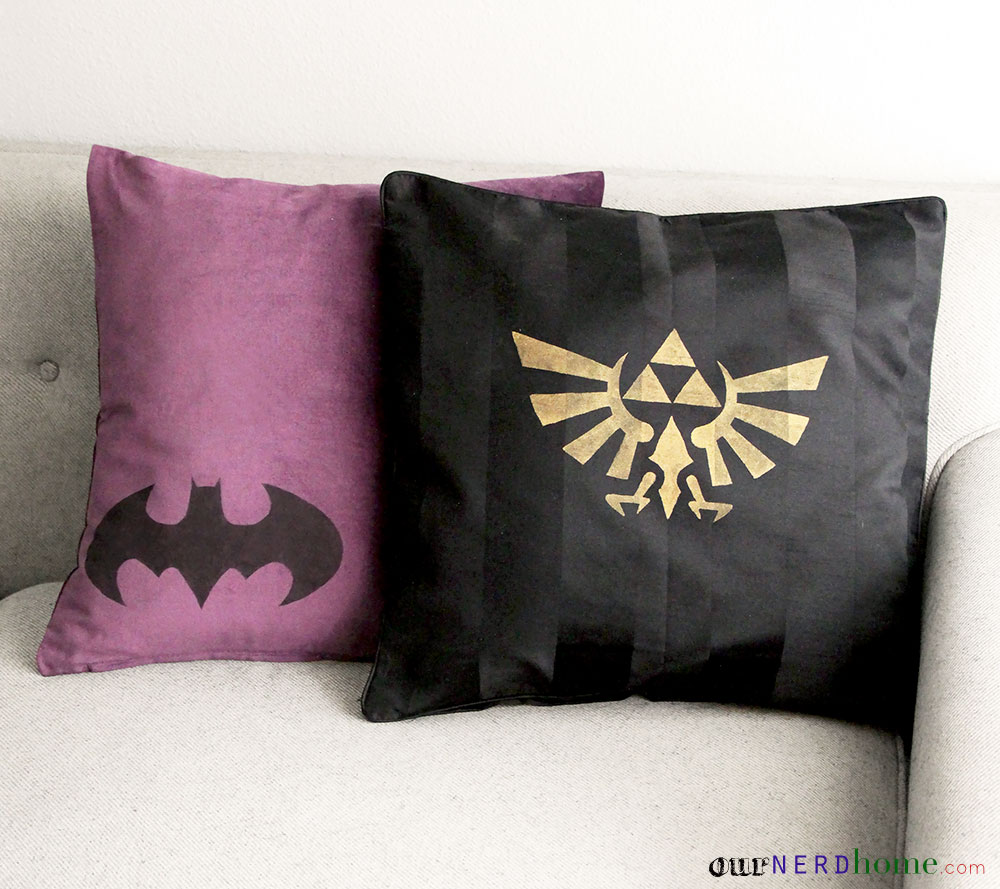 DIY Geek Pillows by Our Nerd Home