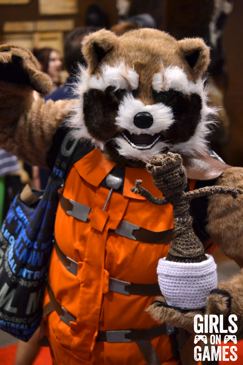 Rocket Raccoon cosplay at Fan Expo 2015