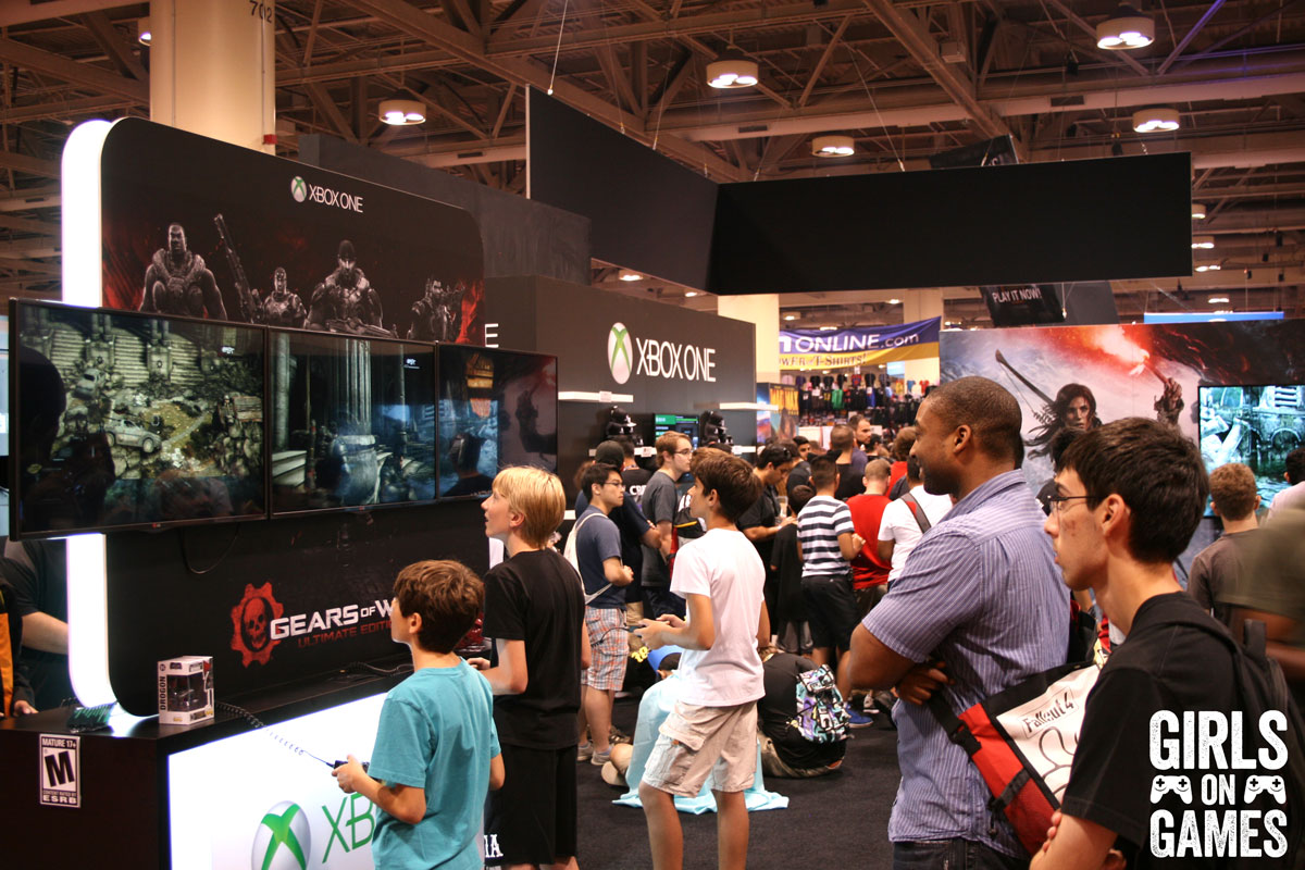 Gears of Wars demo at the Xbox booth at Fan Expo 2015