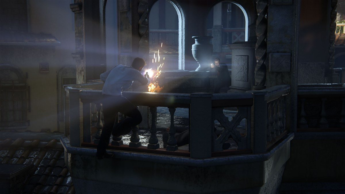 Gunfight from Uncharted 4: A Thief's End. Image from Sony