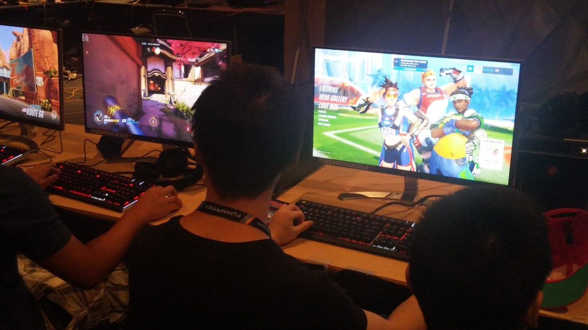 There was some Overwatch, of course.
