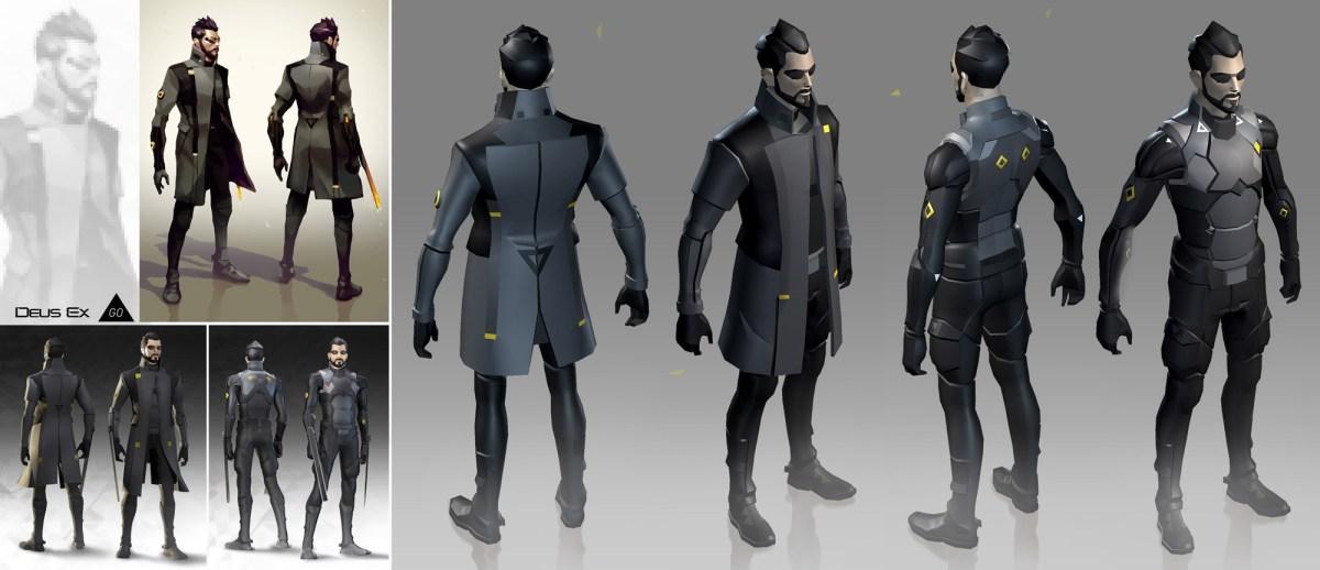 Deus Ex GO Adam Jensen model from Square Enix Montreal