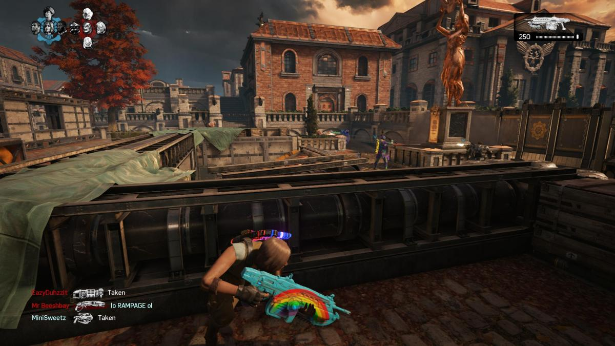 Multiplayer feels pretty much like it used to, except with added customization options (hello pretty rainbow guns!)
