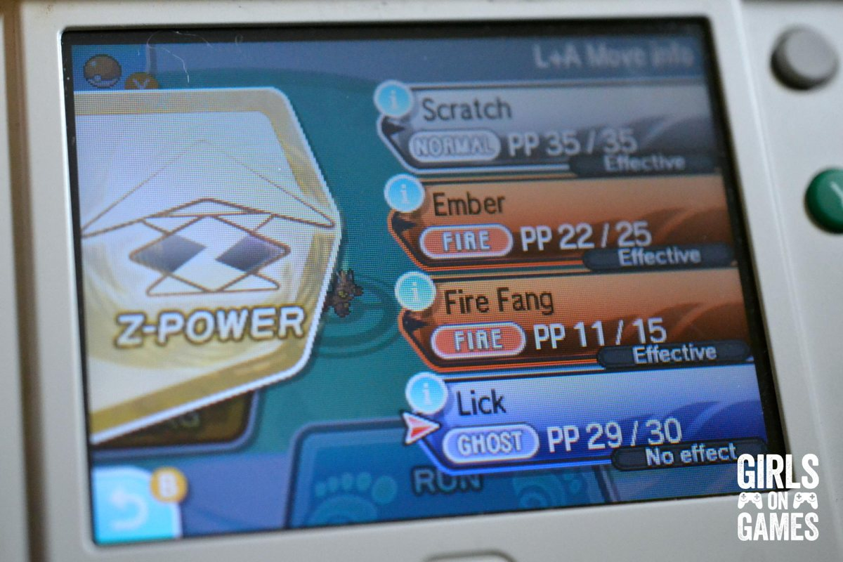 Pokémon Sun Battle Menu