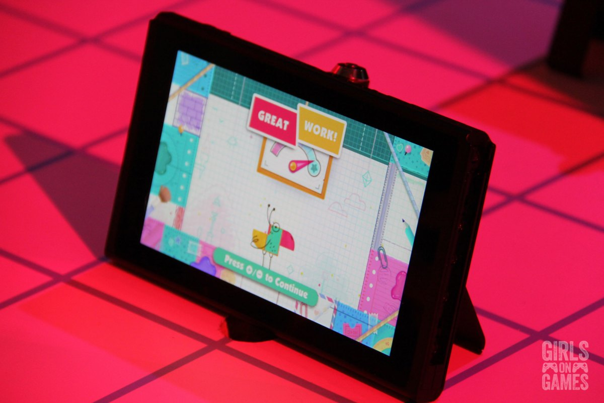 Snipper Clips on a Nintendo Switch. Photo: Leah Jewer / Girls on Games
