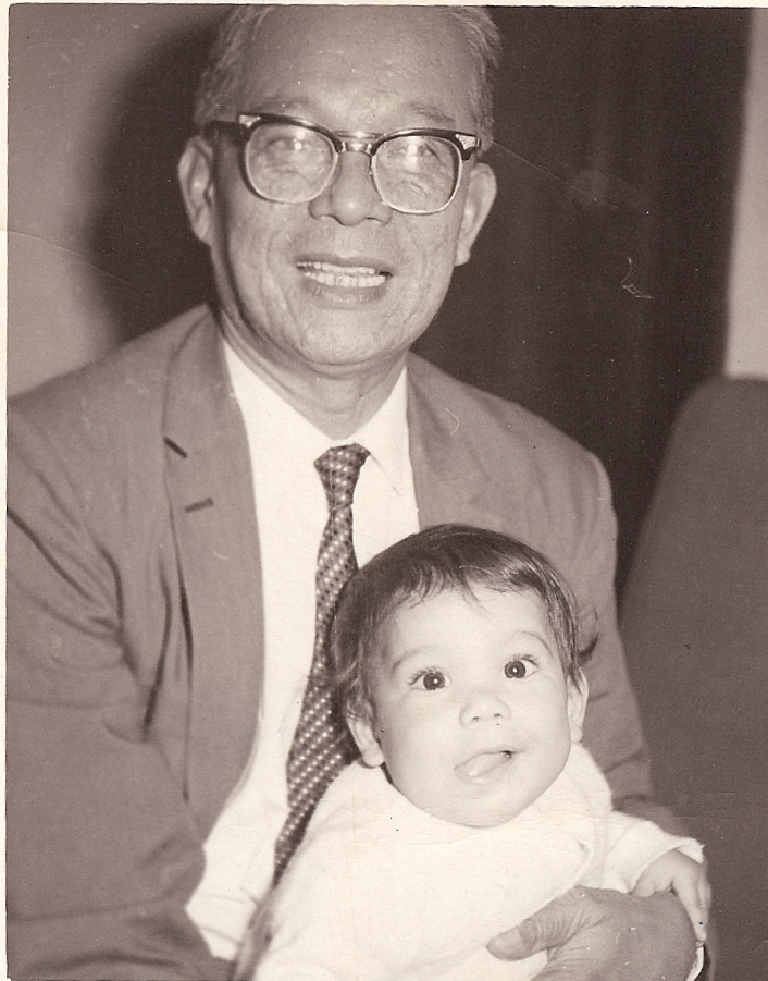 Author at 8 1/2 months with Uncle Adam, her paternal grandfather's brother