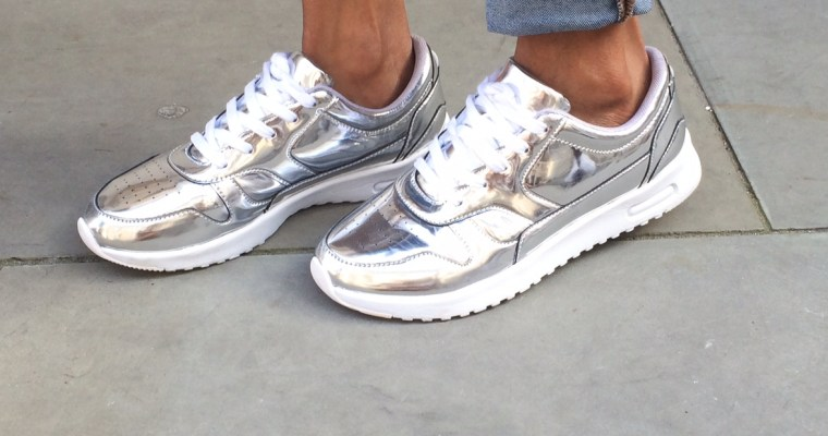 SHOE TRENDS Spring 2017: Metallic Sneakers