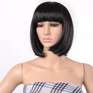 tina belcher short black wig