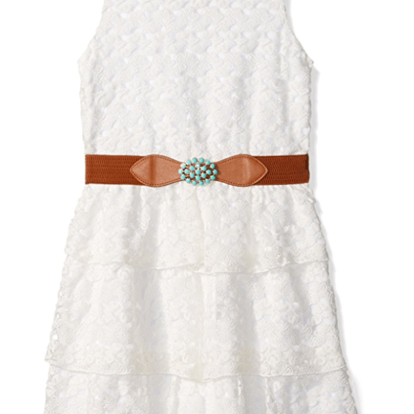 Girls Tween White Lace Dress