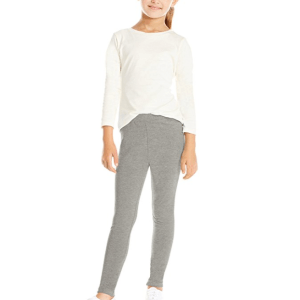 girls tween heathered knit basic leggings
