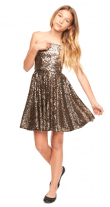 Milly Minis Gold Party Dress Tween
