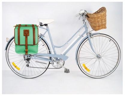 Powder Blue Bicycle, Carmichael Bike Pannier