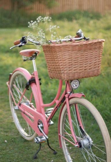 Vintage style Pink Bicycle