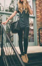 Short boots, black skinny jeans