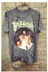 Vintage style distressed Jimi Hendrix tee