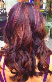 Brunette, Violet, Red