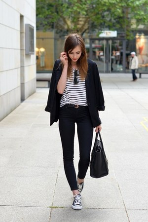 black-converse-shoes-black-topshop-jeans-black-sheinside-blazer