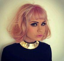 pink-peach-hair-bob-haircut-style