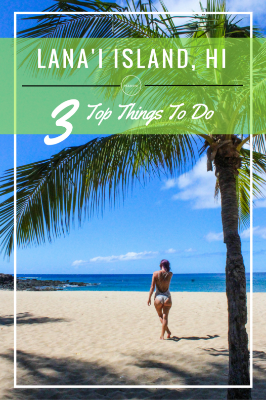 Lanai Island Top 3 Things To Do