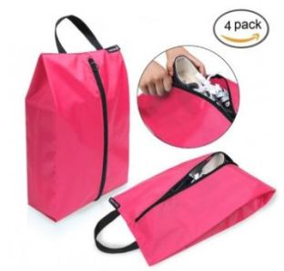 Set of 4 lightweight waterproof nylon storage travelling (shoe) bags via @girlswanderlust