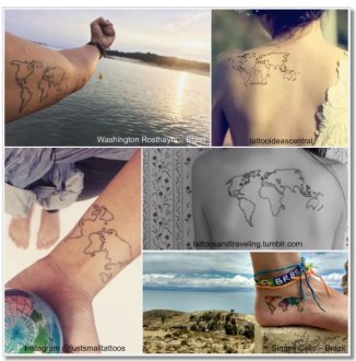 World map globe tattoo path decorations pictures full path and green water color world tattoo globeworld map world map tattoos that will ignite your inner travel bug minimalism map tattoo on wrist by joice wang gumiabroncs Image collections