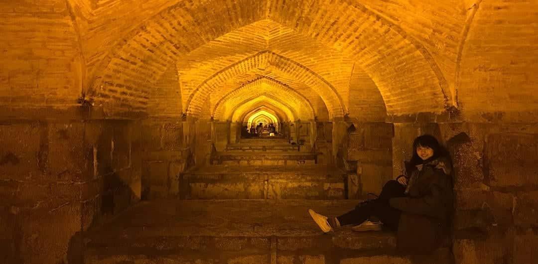 Girls Who Travel | Khaju Bridge in Esfahan