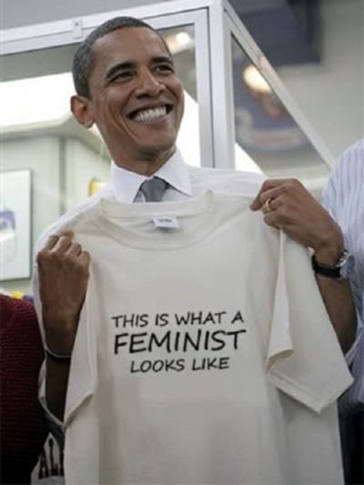 Image result for this is what a feminist looks like obama