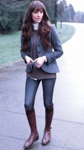 Cute Equestrian Style With Brown Boots