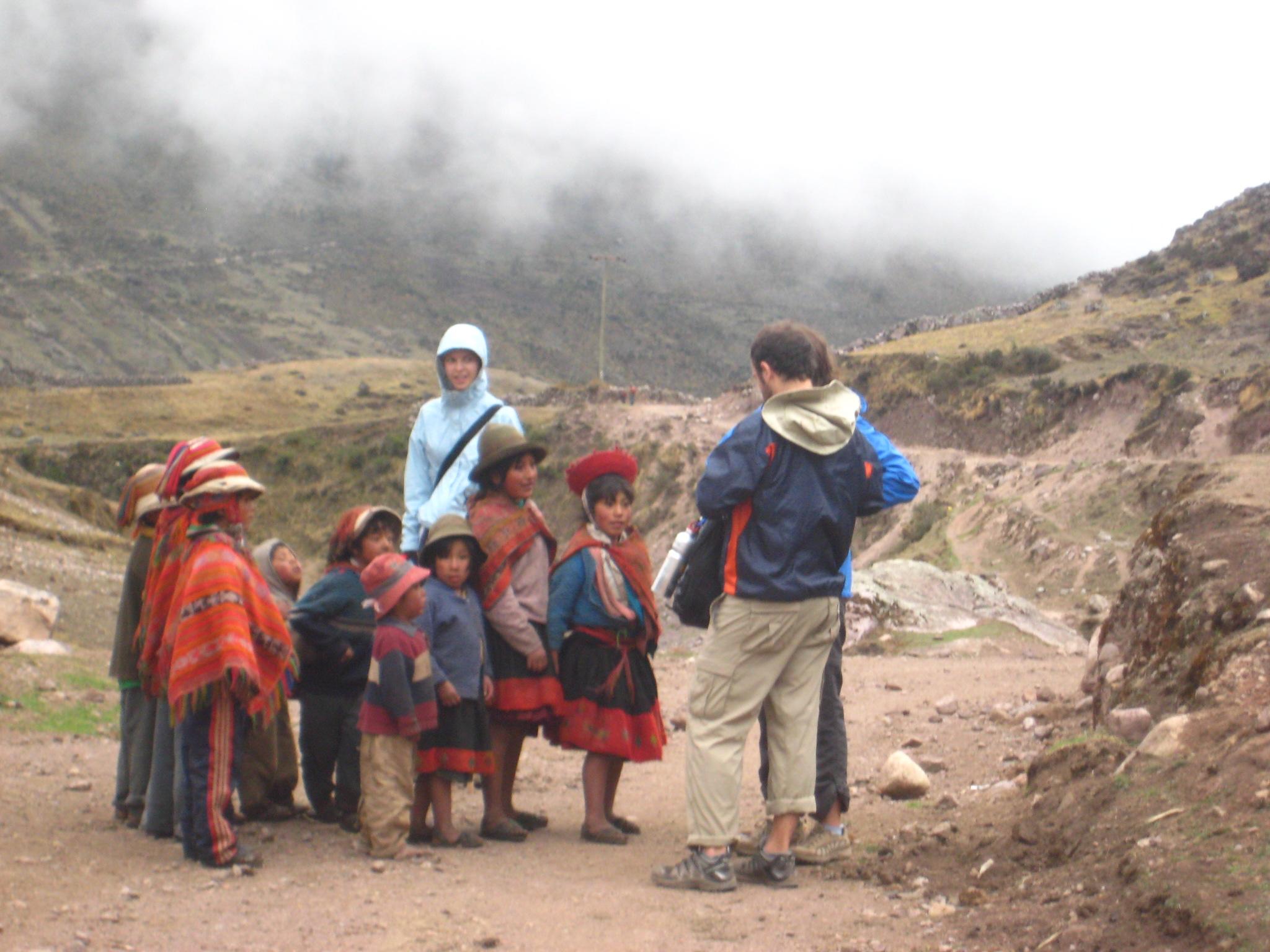 Local kids seeking candy