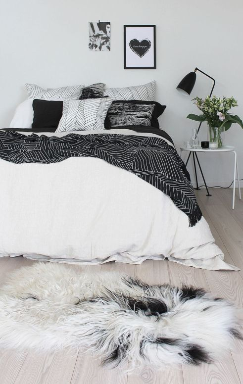 swedish-bedroom-with-modern-bedding