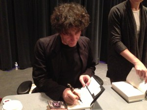 Neil Gaiman signing my copy of The Ocean at the End of the Lane