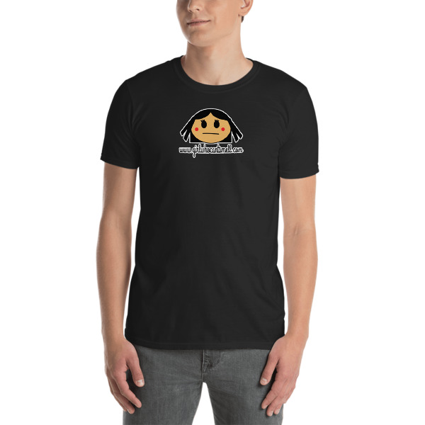 Picture of Girl Who Can't Smell Original Anosmia Short-Sleeve Unisex Tee in Black